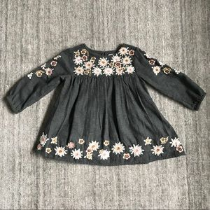 Zara Baby Girl Floral Embroidered Dress